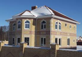 Строительство дома из арболита в Череповце 12х12