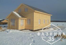 Построили каркасный дом в Ирдоматке