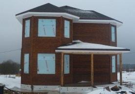 Каркасный дом в Ирдоматке по индивидуальному проекту