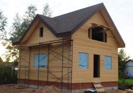 Возведен каркасный дом в Заозерье