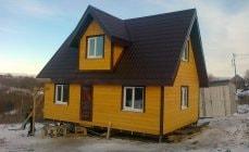 Строительство аккуратного каркасного дома 6 на 9