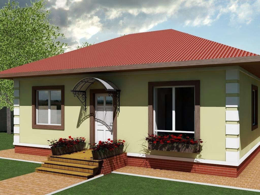 Проект одноэтажного дома из газобетона 11х11 площадью 100 м2