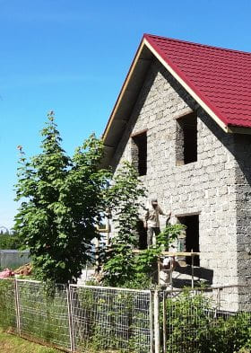 Строим дом из арболита 6х8