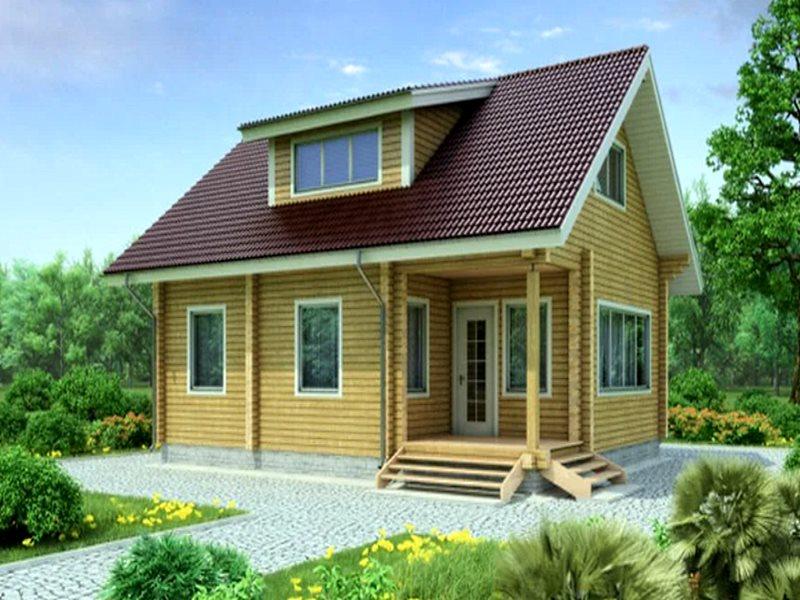 Проект каркасного дома с мансардой 10х8 на 127 кв. м