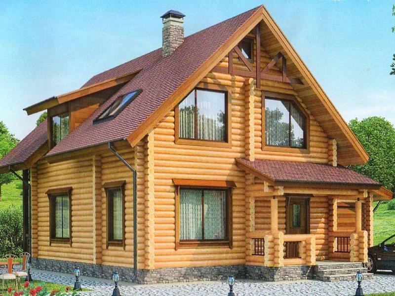 Проект каркасного дома с гаражом и мансардой 1-88