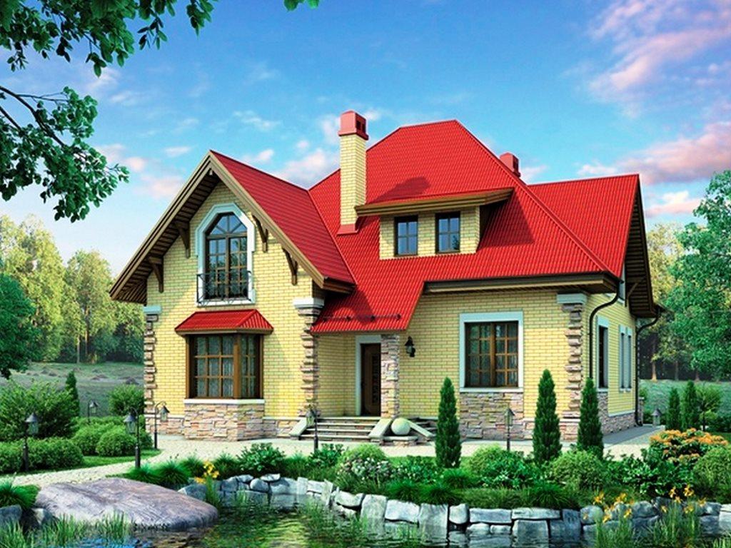 Проект загородного дома из кирпича 7-79 на 202 кв. м