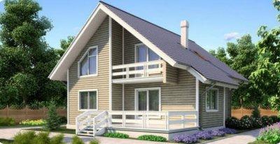 Проект каркасного дома 1-44