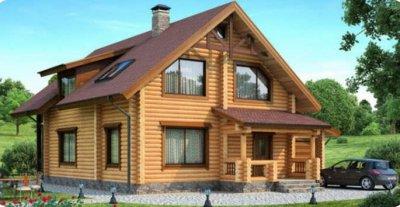 Проект дома из бревна 1-88