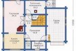План первого этажа дома 1-88