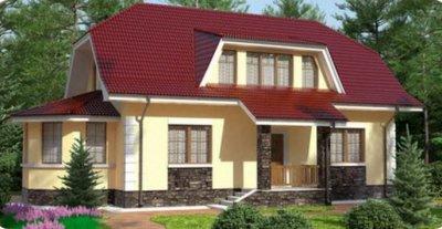 Проект дома из арболита 3-18