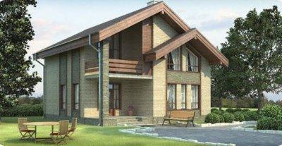Проект дома из газобетона 4-14