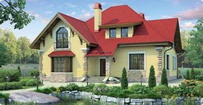 Проект дома из кирпича 7-79