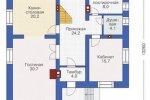 План первого этажа дома 7-79