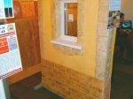 Вариант наружной отделки фасада – комбинирование штампованного бетона и обычной штукатурки вполне бюджетный  и в тоже время симпатичный вариант.
