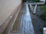 Отделка отмостки декоративным бетоном