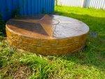 Ясная Поляна - декоративным бетоном отделан колодец на базе приемки металлолома