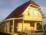 Фото дома из строганного бревна