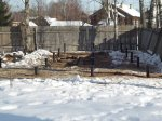 Зимний монтаж свай под жилой дом из SIP панелей 10x12 метров