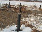 Устройство свайно-винтового фундамента зимой