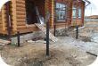 Монтаж свайного фундамента под крыльцо в деревне Нова
