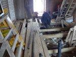 Строительство каркасной пристройки на винтовых сваях