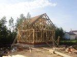 Завершение строительства каркаса дома