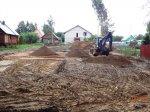 Завершена подготовка участка под фундамент дома из газобетона