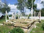 Фундамент для каркасного дома - винтовые сваи