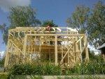 Достроили мансардный этаж каркасного дома