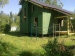 Каркасный дом обшит плитой «Изоплат»