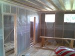 Утепление каркасного дома выполнено базальтовой ватой «Paroc Extra» 150 мм