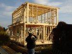 Строительство каркаса дачного дома