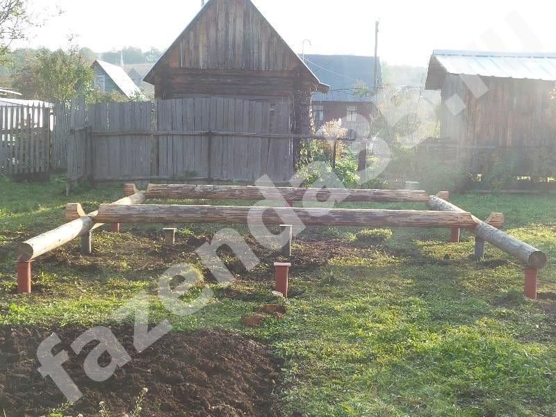 Монтаж свайного фундамента под баню в кооперативе Родник