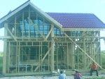 Обвязка фундамента каркасного дома: брус 150х150 мм