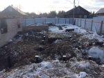 Монтаж винтовых свай на месте сгоревшего дома
