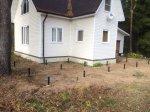 Монтаж фундамента под террасу к дому