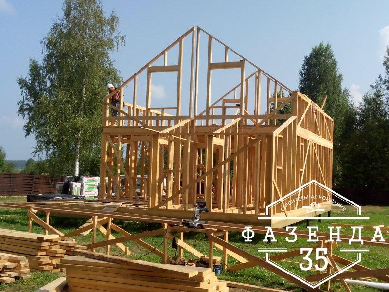 Строительство каркасного дома 8 на 8 «по феншую»