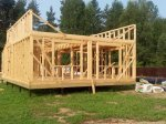 Строительство каркаса дома фото 16