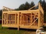 Строительство каркаса дома фото 17