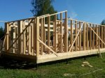 Строительство каркаса дома фото 8