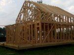 Строительство каркаса дома фото 29