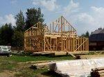 Строительство каркаса дома фото 23