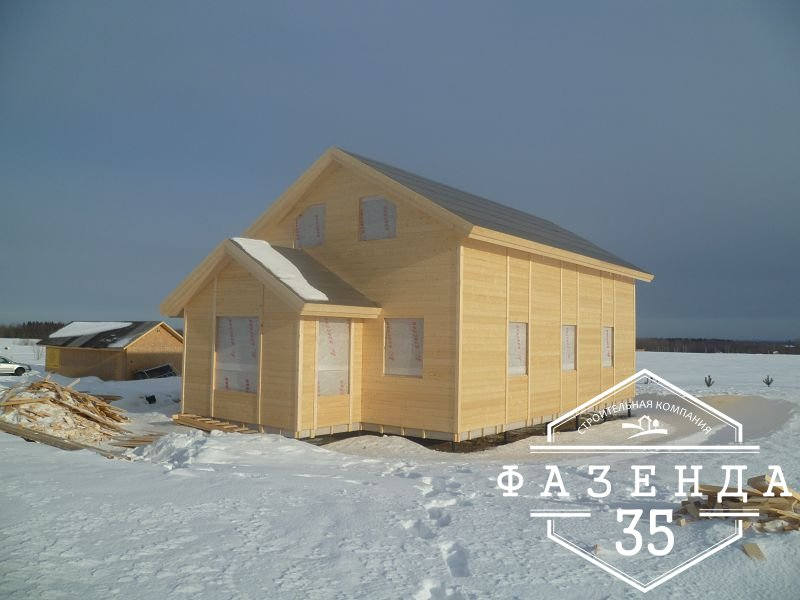 Строительство большого каркасного дома на две семьи