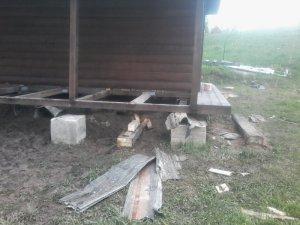 Усиление фундамента винтовыми в Белозерском районе
