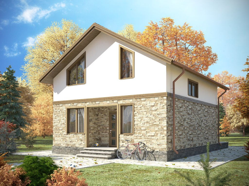 Проект каркасного дома по скандинавской технологии, площадью 118 м2
