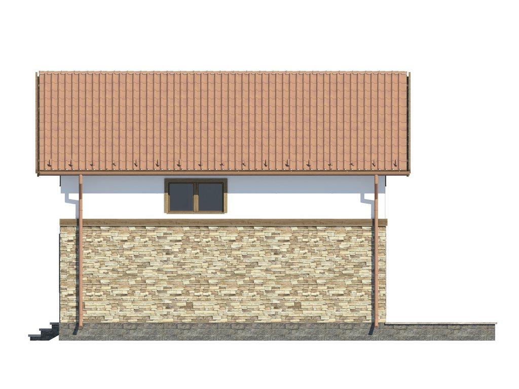 Проект каркасного дома по скандинавской технологии, площадью 118 м2 - фасад фото 4