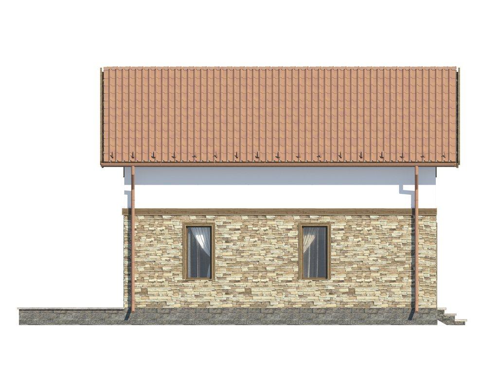 Проект каркасного дома по скандинавской технологии, площадью 118 м2 - фасад фото 2