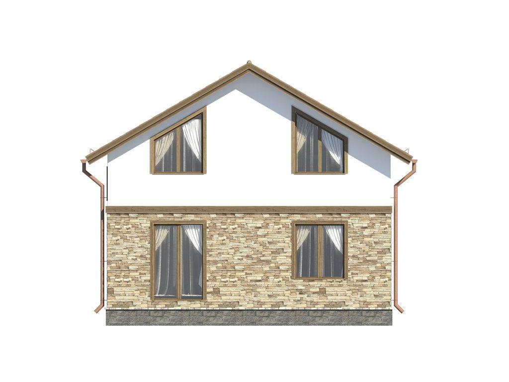 Проект каркасного дома по скандинавской технологии, площадью 118 м2 - фасад фото 3