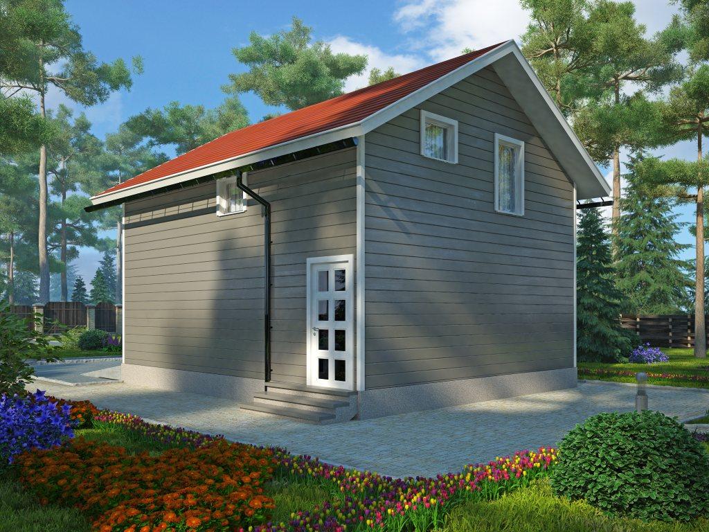 Проект двухэтажного гаража на 2 машины площадью 100 м2 - фото 2