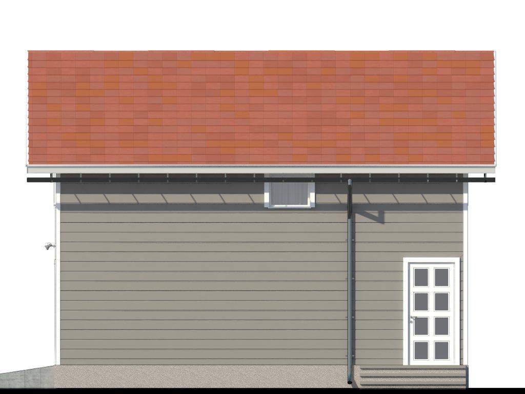 Проект двухэтажного гаража на 2 машины площадью 100 м2 - фасад фото 2